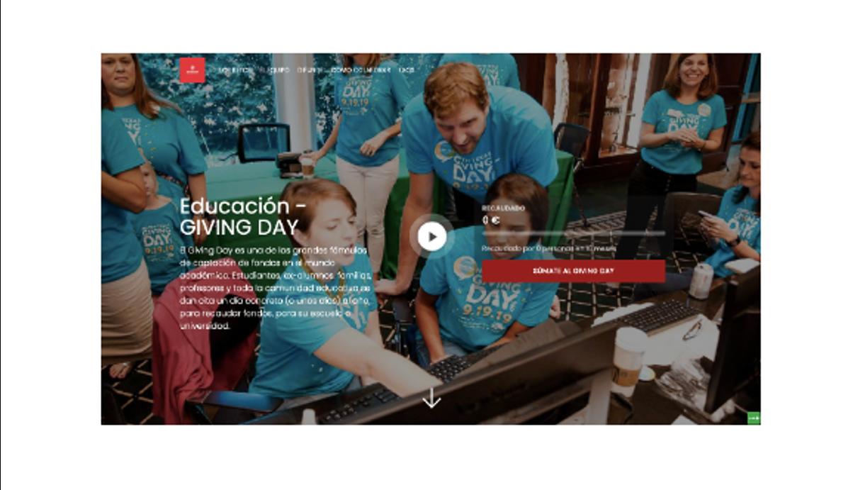 Campaña captación de fondos Giving Day Universidad